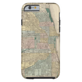 Map of Chicago City Tough iPhone 6 Case