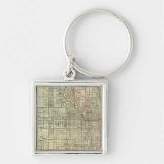 Map Of Chicago Key Ring