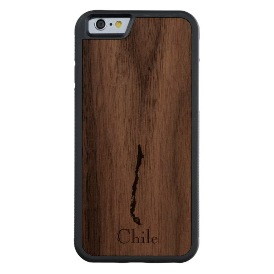 Map of Chile: Classic Design Carved Walnut iPhone