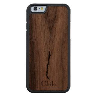 Map of Chile: Classic Design Walnut iPhone 6 Bumper Case