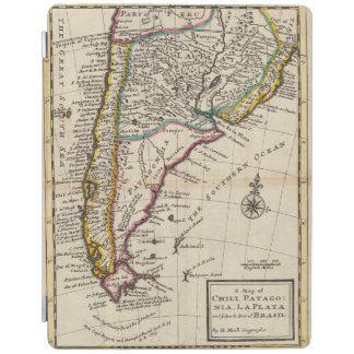 Map of Chili, Patagonia, La Plata iPad Cover