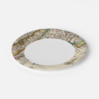 Map of Chili, Patagonia, La Plata Paper Plate
