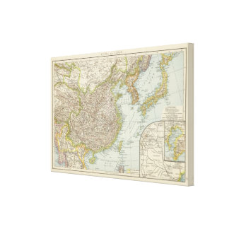 Map of China and Japan Canvas Print