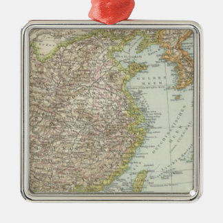 Map of China and Japan Christmas Tree Ornaments