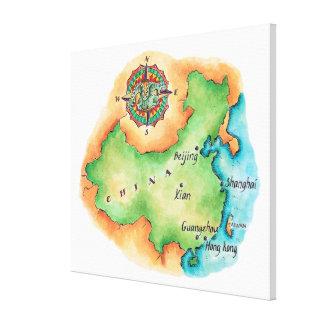 Map of China Canvas Print