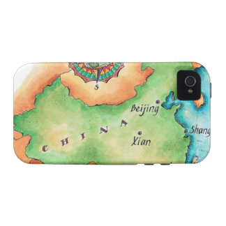 Map of China iPhone 4 Covers