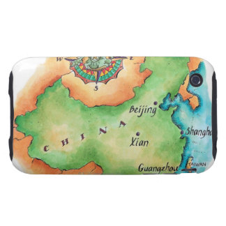 Map of China iPhone 3 Tough Cases