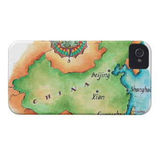 Map of China iPhone 4 Case-Mate Cases