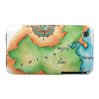 Map of China iPhone 3 Covers
