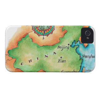 Map of China iPhone 4 Cases