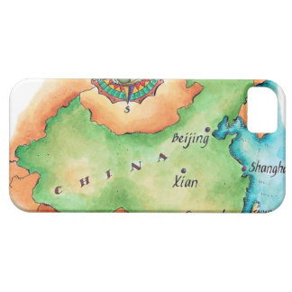 Map of China iPhone 5 Covers