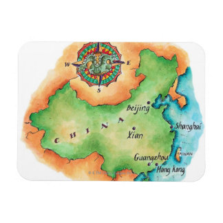 Map of China Magnet