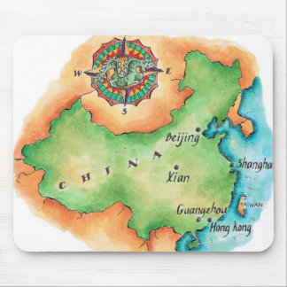 Map of China Mouse Mat