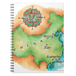 Map of China Notebook