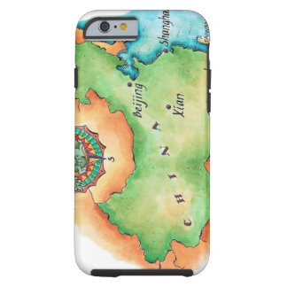Map of China Tough iPhone 6 Case
