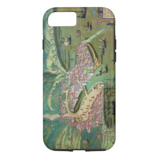 Map of Chios, from 'Civitates Orbis Terrarum' by G iPhone 8/7 Case