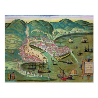 Map of Chios, from 'Civitates Orbis Terrarum' by G Postcards