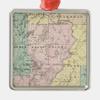 Map of Chippewa County southern part Christmas Ornament