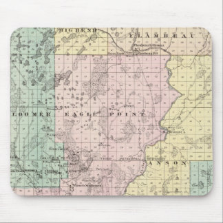 Map of Chippewa County southern part Mouse Mat
