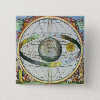 Map of Christian Constellations, from 'The Celesti 15 Cm Square Badge