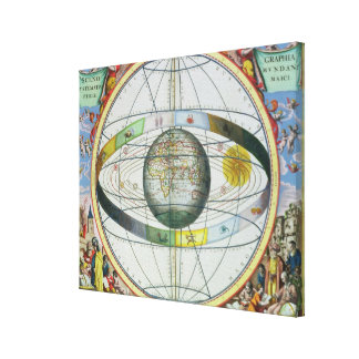Map of Christian Constellations, from 'The Celesti Canvas Print