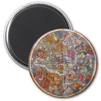 Map of Christian Constellations, Southern Skies 6 Cm Round Magnet