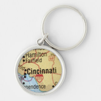 Map of Cincinnati Premium Keychain