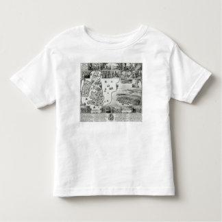 Map of Civil War England and a view of Prague Toddler T-Shirt