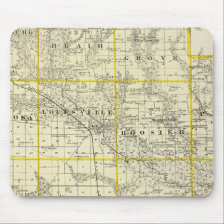 Map of Clay County, Flora and Louisville Mouse Mat
