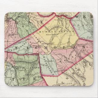 Map of Clay, Webster, Nicholas, Fayette counties Mouse Pad