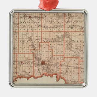 Map of Clinton County, State of Iowa Christmas Ornament