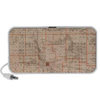 Map of Clinton County, State of Iowa Notebook Speaker