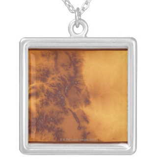 Map of Colorado 2 Silver Plated Necklace