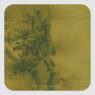 Map of Colorado Square Sticker