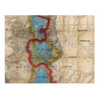 Map of Colorado Territory Postcard