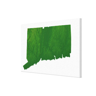 Map of Connecticut 2 Canvas Print