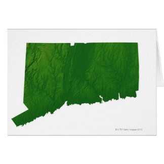 Map of Connecticut 2 Card