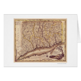 Map of Connecticut by Carey 1795 Card
