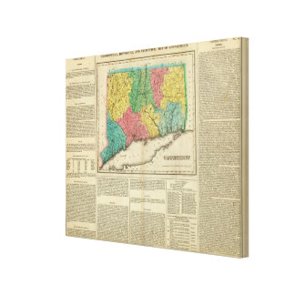 Map Of Connecticut Canvas Print