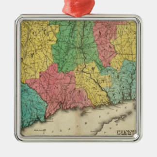 Map Of Connecticut Christmas Ornament