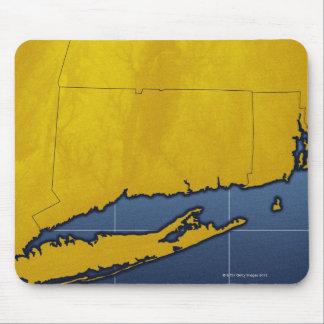 Map of Connecticut Mouse Mat