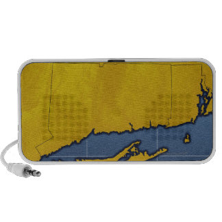 Map of Connecticut Portable Speakers