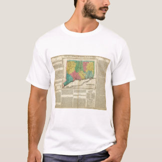 Map Of Connecticut T-Shirt