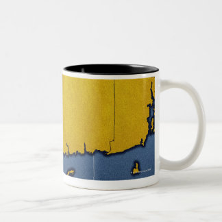 Map of Connecticut Two-Tone Coffee Mug