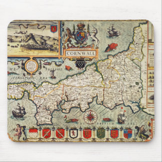 Map of Cornwall Mouse Mat