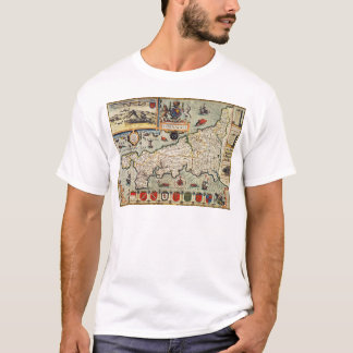 Map of Cornwall T-Shirt