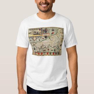 Map of Cornwall T-shirts