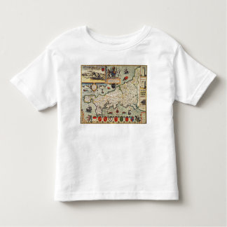 Map of Cornwall Toddler T-Shirt