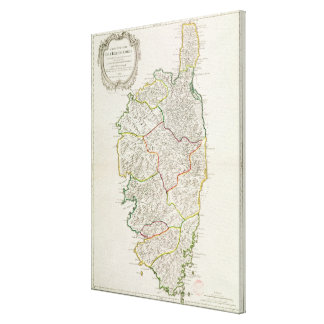 Map of Corsica Canvas Print