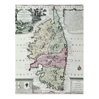 Map of Corsica Postcard